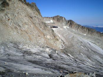 Glaciar del Aneto sin nieve