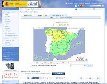 Aviso España AEMET