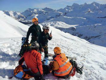 Rescate esqui de montaña