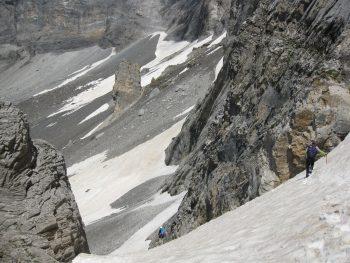 Nieve en verano alta montaña