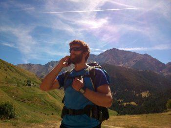 Llamada al 112 en montaña