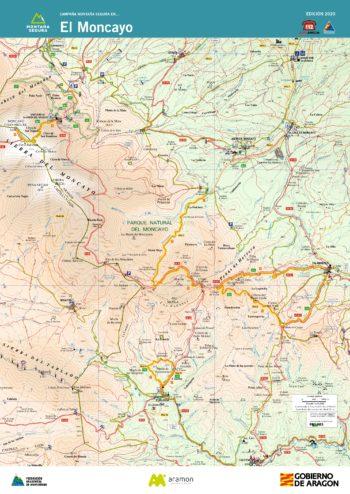 Folleto de excursiones y montaña invernal por el Moncayo. Montaña Segura