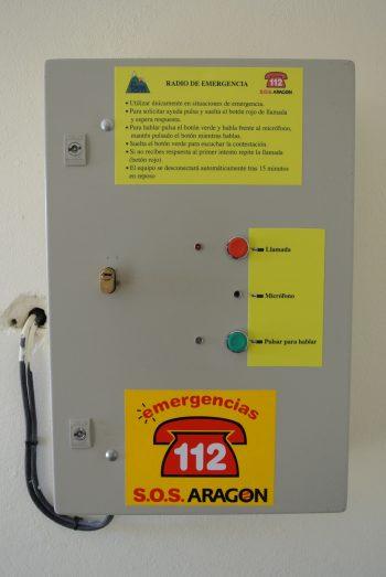 Radiosocorro en refugio de Urdiceto, Pirineo.