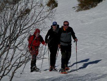 Raquetas de nieve y seguridad
