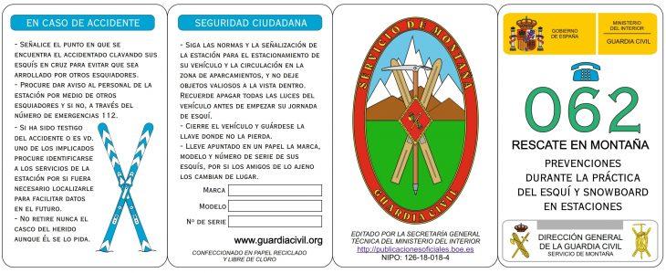 Campaña seguridad en pistas de esqui. Guardia Civil
