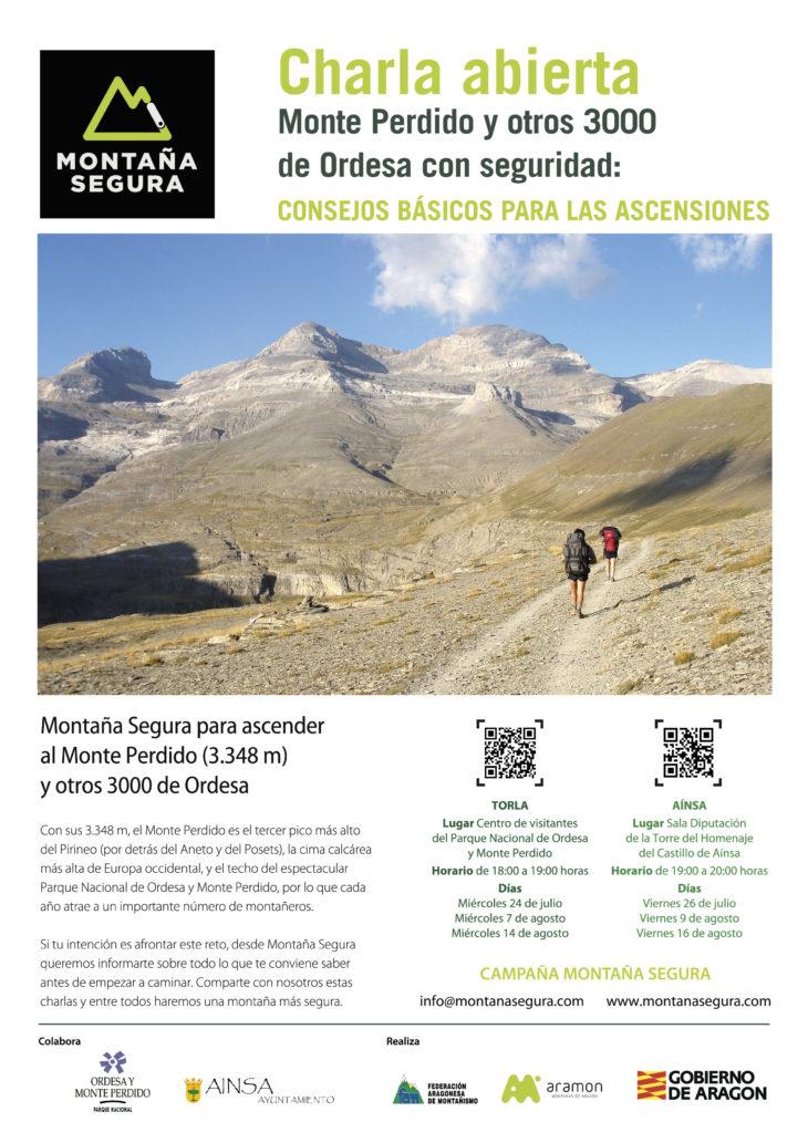 Charlas en Torla y Añinsa para Ascender al Monte Perdido con seguridad. 2019