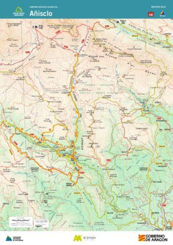 Folleto de excursiones por el valle de Añisclo. Montaña Segura
