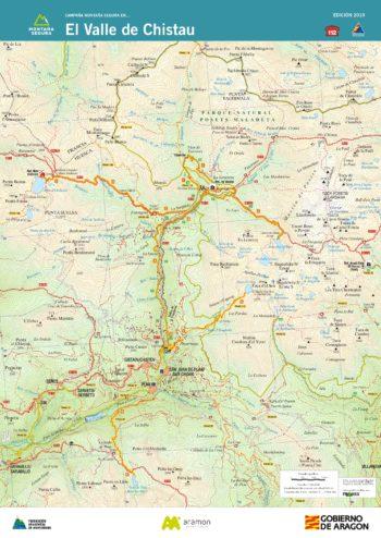 Folleto de excursiones por el valle de Chistau. Montaña Segura