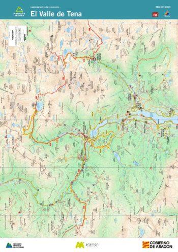 Folleto de excursiones por el valle de Tena. Montaña Segura