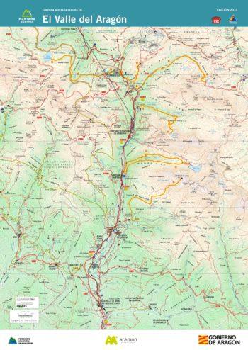 Folleto de excursiones por el valle del Aragón. Montaña Segura