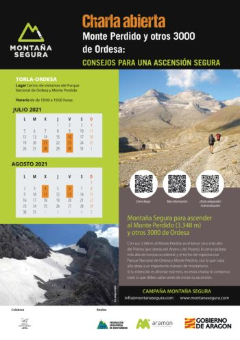 Charlas para ascender con seguridad al Monte Perdido 2021
