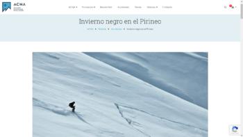 Invierno negro en el Pirineo - ACNA