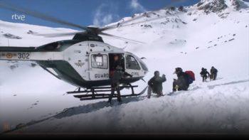 Rescate en montaña invernal. Imagen del programa Rescate – RTVE