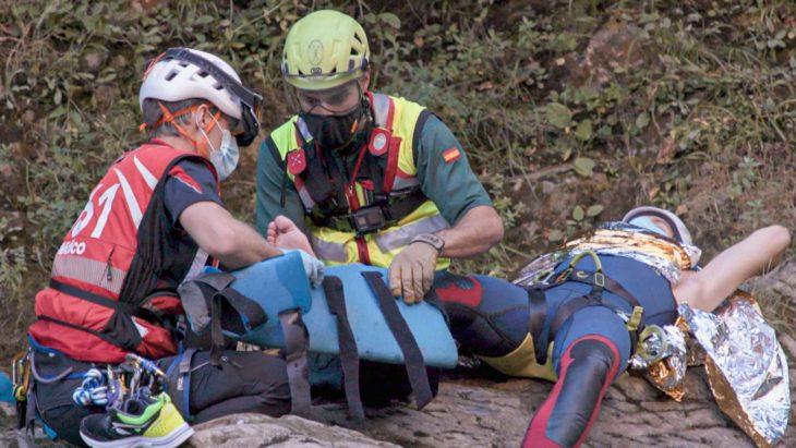 Rescate en barranco. Imagen del programa Rescate - RTVE